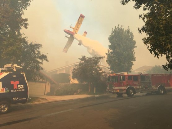 Epic aerial fire fighting efforts in California wild fires