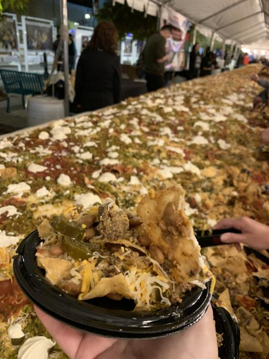 [I Ate] A piece of the Worlds Largest Nachos, a world record just broken in Las Cruces, New Mexico