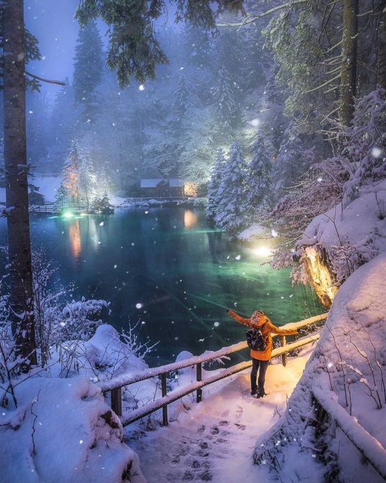 Looks like a scene from a magical fairy tail. But it's a real picture.