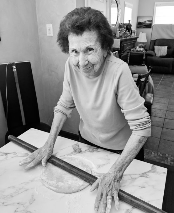 My grandmom is 93 and losing her memory but still can roll her ravioli dough like a pro