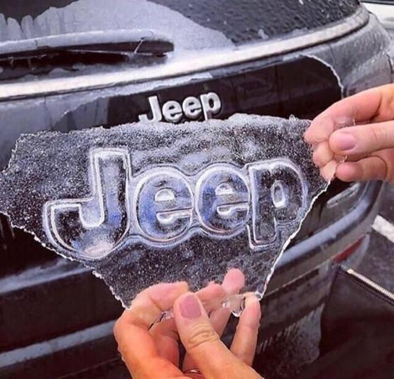 This iced pulled off a Jeep