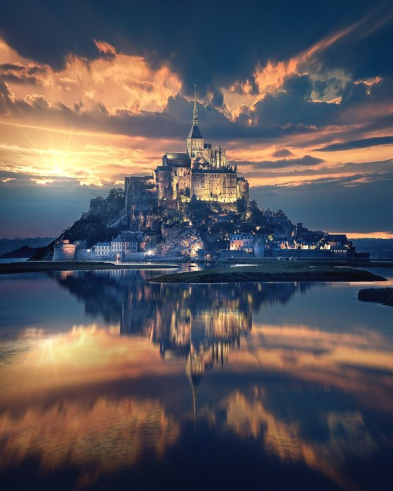Mont Saint-Michel, France by Beatrice Preve and Samir Belhamra