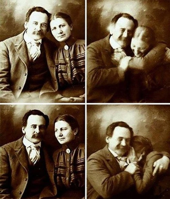 A Victorian Couple Trying Not To Laugh While Getting Their