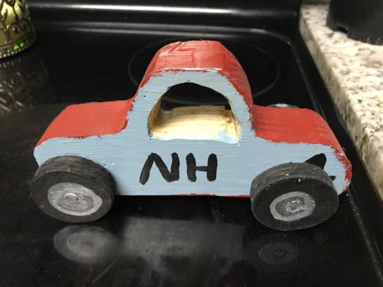 My son loves the movie Cars and a few years ago that is all he wanted for Xmas, but I had just lost my job before the holidays and money was extremely tight and we were not going to be able to have much of a Xmas. I carved this for him and he STILL plays
