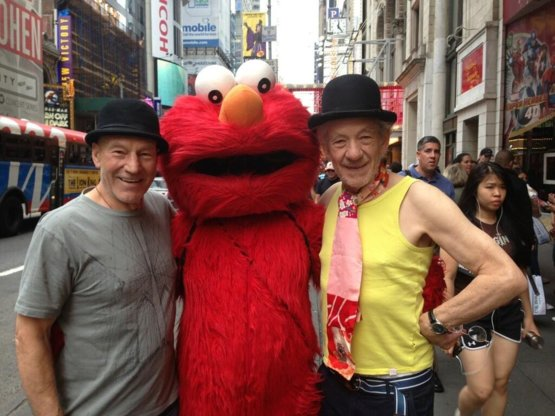 Two Sirs and an Elmo.
