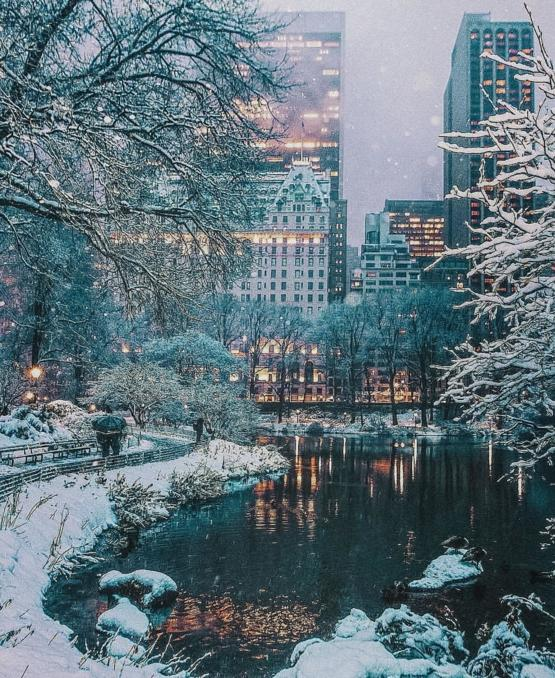 Winter in New York.