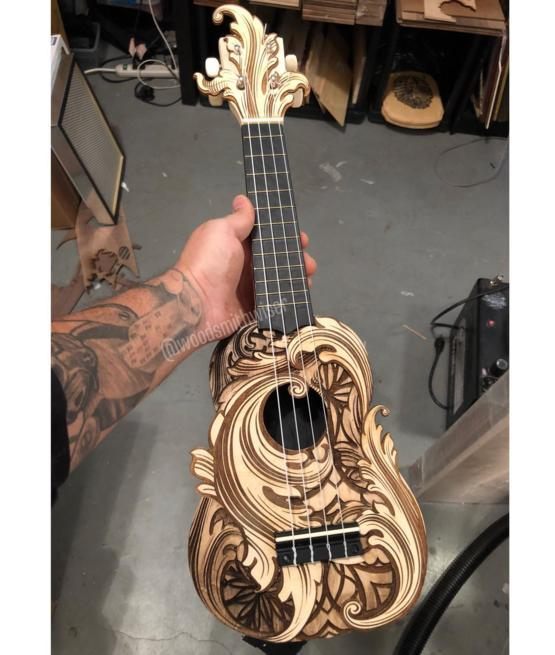 I used my laser cutter/engraver to make this rad ukelele!