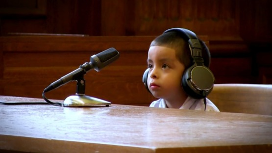 Unaccompanied child in American immigration court