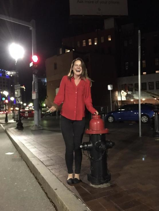 My girlfriend also likes to dress up as a fire hydrant