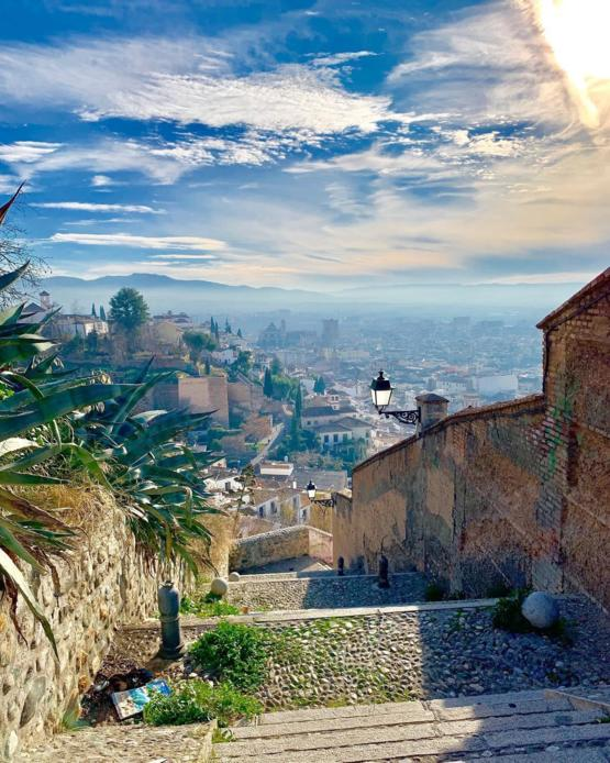 Breathtaking view in Granada, Spain