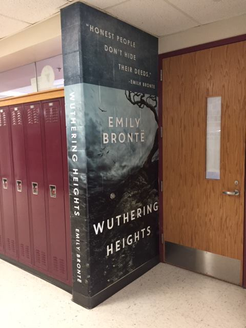 High school transforms hallways into iconic book covers