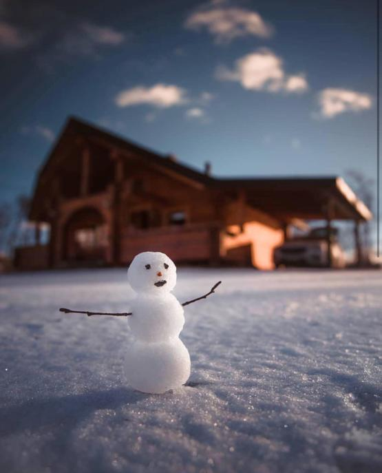 A snowman in Finland..