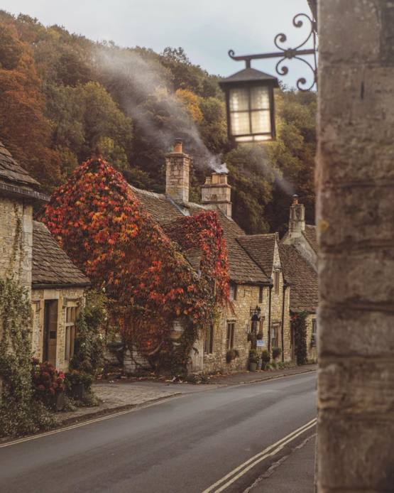 Quiet morning in an English village