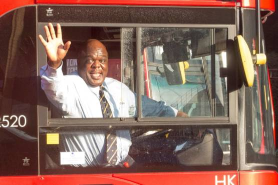 Man who was homeless for 20 years turns life around to be voted London's happiest bus driver