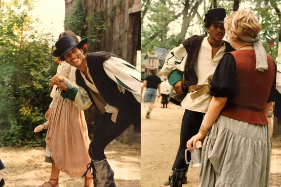 A friend found some pictures from 1990 of Keegan-Michael Key at a Renaissance Faire