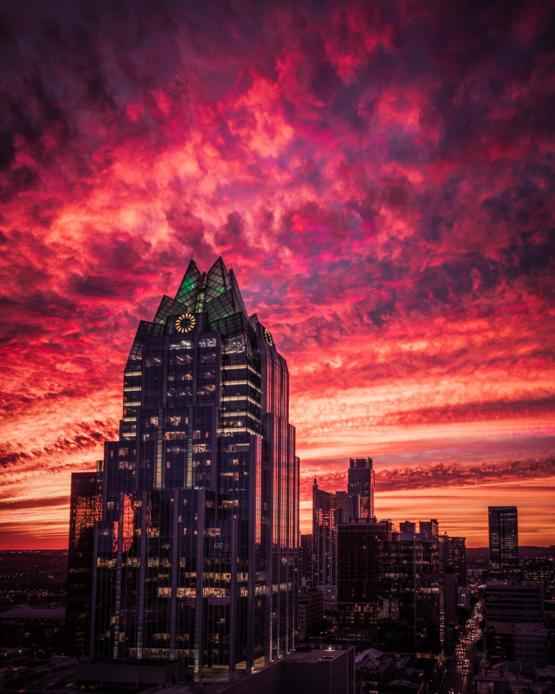 Here's a photo I took of a crazy sunset in Austin, Texas. We have some of the best sunsets here.