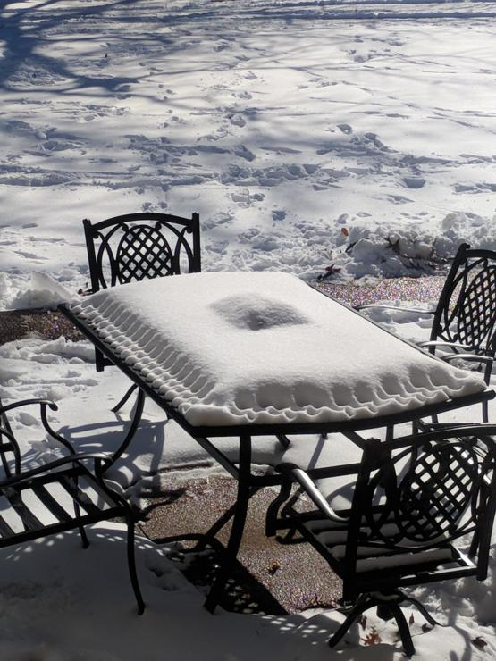 The way this snow settled makes it look like a giant ravioli