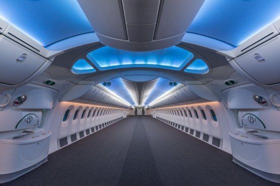 This is what an empty 787 looks like