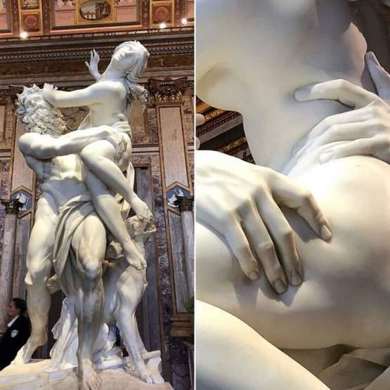 The details in this sculpture By Gian Lorenzo Bernini
