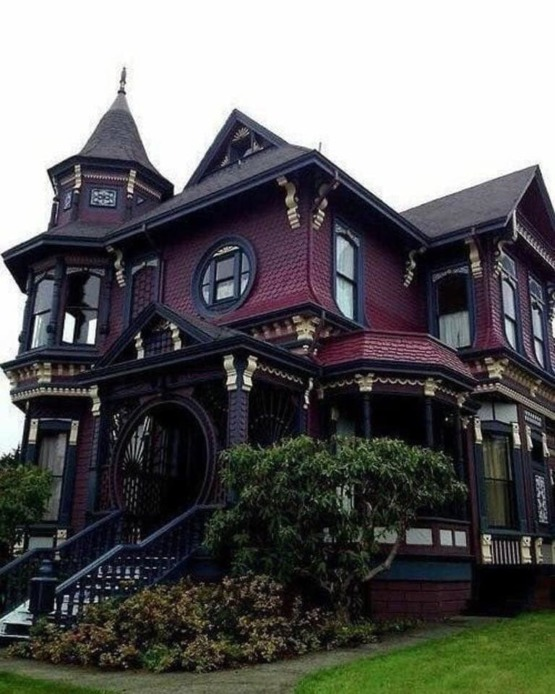 A 19th century gothic victorian home.
