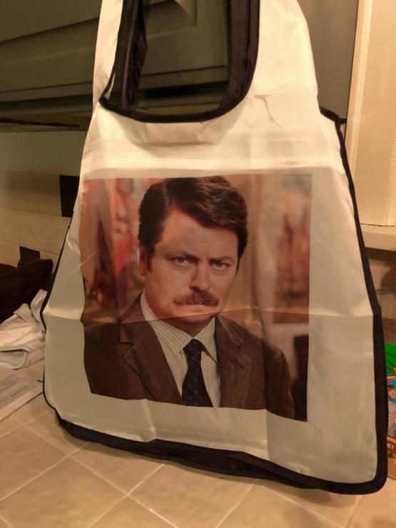 My wife told me we needed a reusable bag for meat only so I had one made.