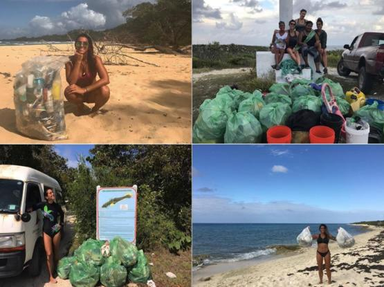 This woman has dedicated the last year and a half of her life to cleaning up polluted coasts, way before #trashtag was a thing. Currently, she is in Central America continuing her efforts. More people like this deserve recognition.