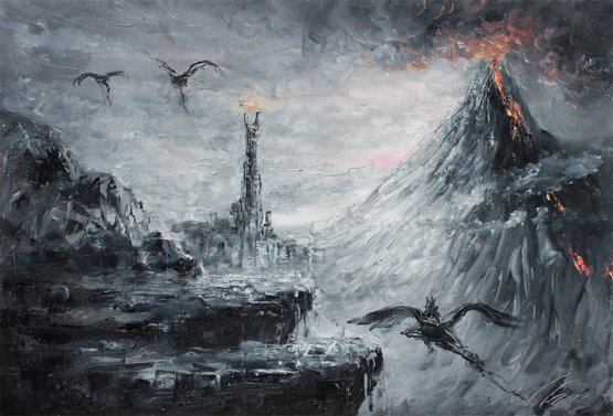 My oil painting of Mordor from LOTR