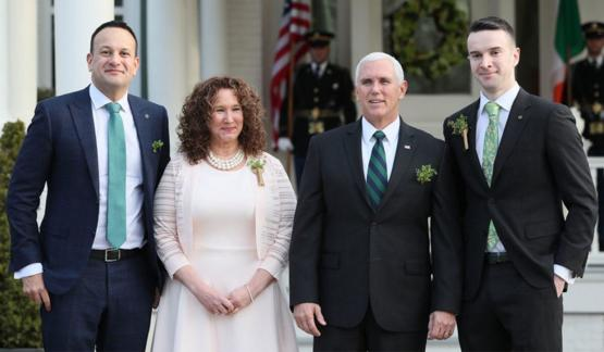 Irish PM Leo Varadkar brought his boyfriend to meet Mike Pence