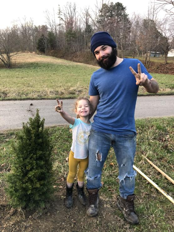 Me and my daughter Ellie planted a tree this evening.