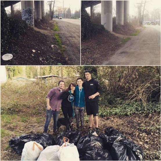 #trashtag cleaned up a road in our small town. Washington state