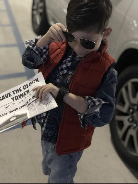 My son's Marty Mcfly cosplay