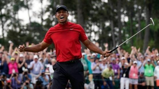 Tiger Woods after winning the Masters for the first time in 14 years