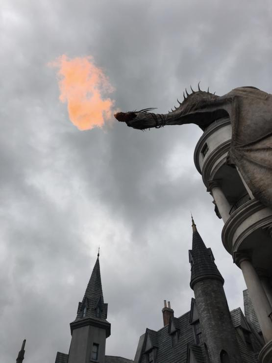 Wife is sending me updates of her girls trip to the Wizarding World of Harry Potter... I love that it's cloudy there for this very picture!
