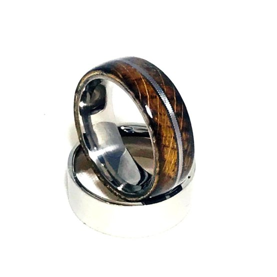 just finished this jack daniels whiskey barrel ring with worn guitar string inlay trending on. Black Bedroom Furniture Sets. Home Design Ideas