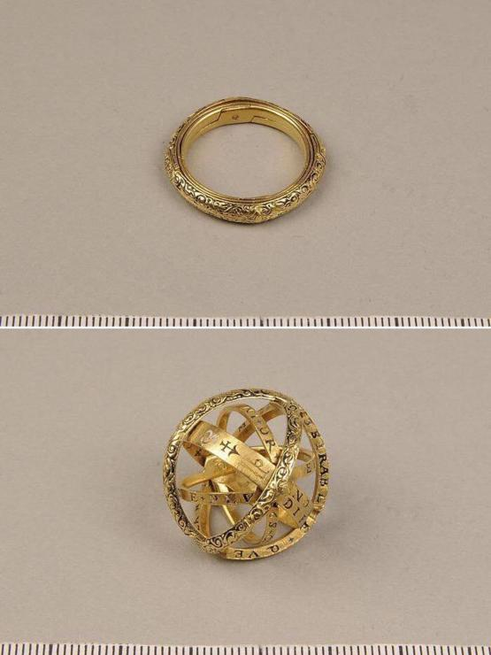 A 16th century ring that unfolds into an astronomical sphere.