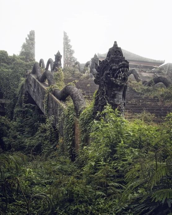 Abandoned temple in Indonesia.