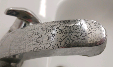 The corrosion on this looks like a map.