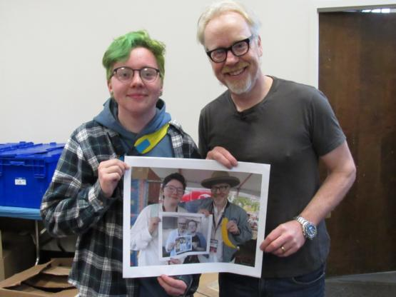 10 year metaphoto with Adam Savage!
