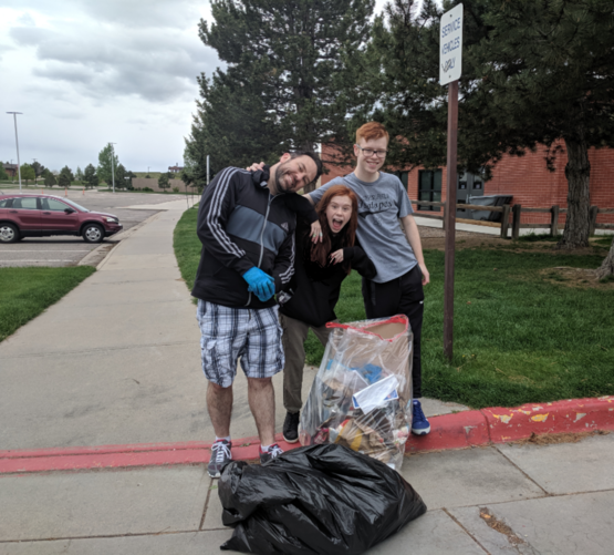 Me and my family cleaned up the local middle school today. It's not much but it's something! #trashtag
