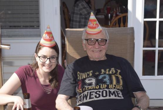 Today I threw my grandpa a surprise 89th birthday party and invited all of his friends and family. I have never seen him so happy.