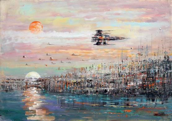 Star Wars themed landscape painting by me