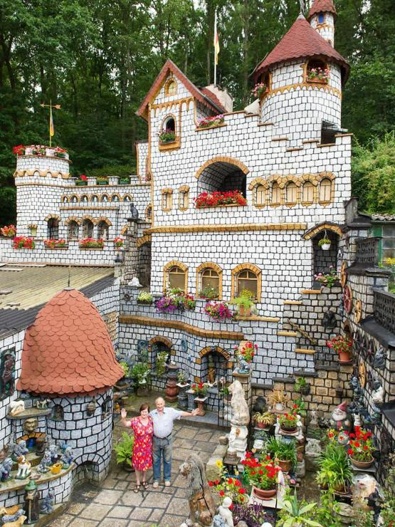 This german senior citizen has built his own castle in over 60 years