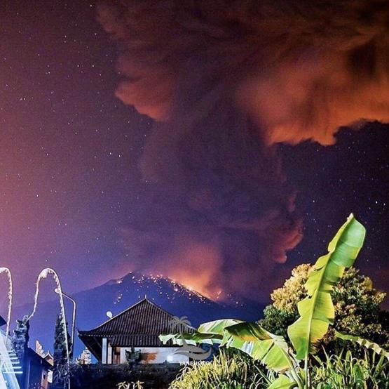 This volcano in Bali just erupted