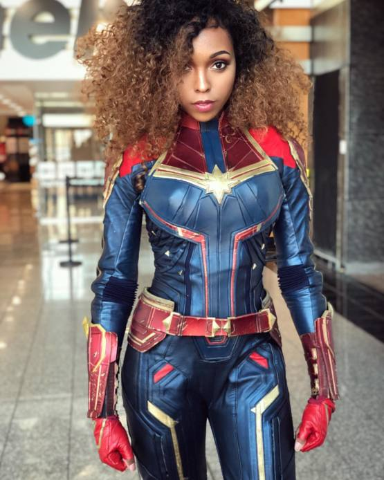 Captain Marvel cosplay by CutiePieSensei