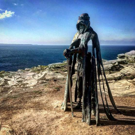 King Arthur's stature, Tintagel England