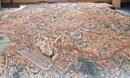 Rome in the age of Constantine, at a scale of 1:250 - created by the architect Italo Gismondi across nearly 40 years
