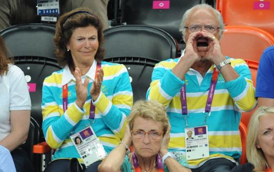 The Swedish king during a handball match  - Trending on Reddit