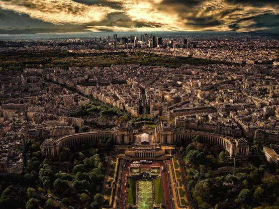 Paris, from the Eiffel Tower