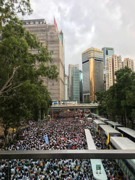 Today, 1.3 million residents take to the streets of Hong Kong to protest against the extradition law the is being rushed through our government. We live in fear of losing our political freedom and our reputation as a global financial hub. The people of Ho