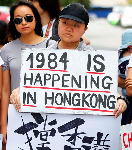A very chilling poster seen at a protest against Hong Kong's extradition treaty with China
